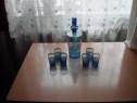 Serviciu de lichior vintage albastru cu auriu