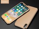 Husa 360 Plastic Slim Fata Spate Si Folie Sticla - Iphone X