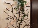 Suport pentru flori din fier forjat model Ramura