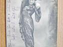 A632-I-Carte postala Femeie in rochie epoca anul 1906 Vie