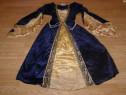 Costum carnaval serbare rochie medievala contesa 7-8 ani