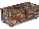 Masă de cafea tip cufăr, lemn solid reciclat, 243320