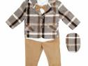 Costum botez baieti | Costum elegant bej | Costum bebe
