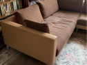 Canapea coltar piele cu stofa Rolf Benz