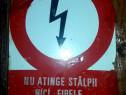 Tablă emailată avertizare electrocutare
