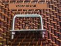 Colier 30x50 brida clema sistem fixare gard panou bordurat