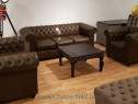 Canapele Chesterfield Vintage din piele naturală