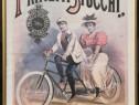 Reclama bicicleta dubla anii 80 tiparita în Italia inramata