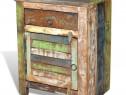 Dulap cu 1 sertar și 1 ușă, lemn reciclat 240950