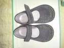 Pantofi pentru fetite, material piele bleumarin