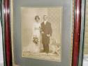 6070-Foto Miri nunta de epoca 1900 rama deosebita visinie.