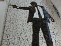 Tablou decorativ mozaic ceramica James Bond