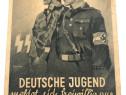 PROPAGANDA CARTE POSTALA WW II Deutsche Jugend meldet