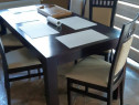 Masa lemn masiv 2000x900 cu 6 scaune