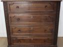 Scrin stil Florentin; Comoda vintage lemn masiv cu sertare