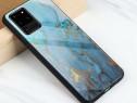 Husa telefon Plastic Samsung Galaxy A51 a515 Marble Gold&Blu