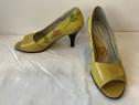 Pantofi peep toe Passo Doble originali, din piele naturala