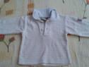 Bluza groasa alba cu guler si dungi albastre Topolino 50-56