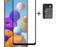 Folie Camera + Folie Sticla Curbata 11D Samsung A21s A51 A71