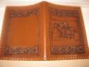B758-Coperta Carte-Caiet piele Florentin Salpa leather Italy