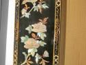 B774-Aplica pasarele si flori de nufar din sidef.