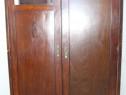 Sifonier vintage lemn masiv cu 2 usi; Dulap cu rafturi si 2