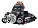 Lanterna frontala de cap, LED, Reincarcabila Negru C355