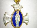B837-I-Medalie Fecioara Maria catolica veche.
