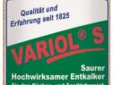 Detergent acid pentru calcar si rugina | Variol S | Dreiturm