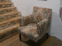 Fotoliu vechi din lemn reconditionat (mobila veche)