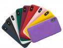 Husa Catifea + Folie Sticla Iphone X Xs XR XS MAX 11 PRO MAX