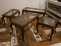 Masute de cafea vechi, din lemn masiv (Mese/Masuta/mobila)