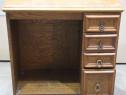 Comoda vintage cu sertare; Dulap lemn masiv solid; Birou