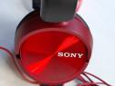 Casti audio Sony MDRZX310R, tip DJ, stereo,cu fir,rosu/negru