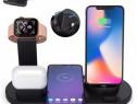 Stand Birou Incarcare Wireless Telefon Ceas Apple Watch
