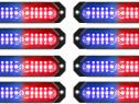 Lampa LED profesionala stroboscopica 12V-24V Rosu-Albastru;