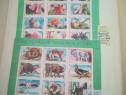 """Blocuri """"Rezervații fauna și flora"""" Lp 1187/87, 2 seturi."""