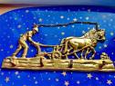 C55-Cuier Aplica mic Plugar cu 2 cai brazdand pamantul bronz