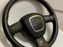 Volan Sline Audi A3 8P A4 B7 piele perforata cu airbag sport