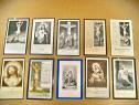 C82C-Semne carte religioase vechi litografice carton 1900.