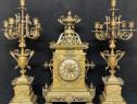 Set ceas cu sfesnice semineu