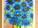 9 desene florale in pasteluri uleioase