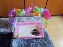 Cușcă cu tuburi pentru hamsteri sau șoareci