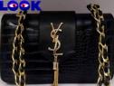 Geantă Yves Saint Laurent import Franta,model tip snake