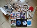 Consola Wii, accesorii originale, jocuri Mario, Wii Sports,