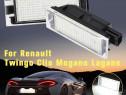 Set 2 lampi 18 led numar, canbus, alb pur 6000k pt Renault
