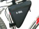 Geanta bicicleta bsoul, noua, negru, mountain bike