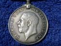 Medalie/decoratie argint masiv 925 georgivs anglia raritate