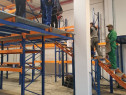 Platforma depozitare pe sistem de rafturi metalice
