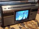 Radio casetofon cu tv Philips raritate vintage